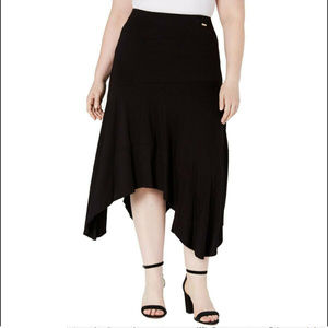 Calvin Klein Women's 1x Plus Size Midi Skirt